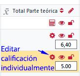 icono para editar calificación individualmente