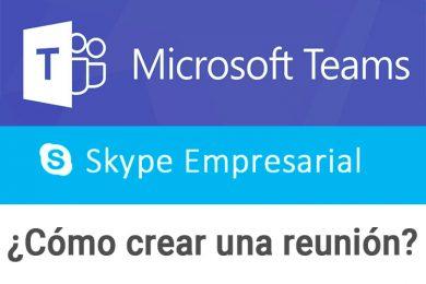 Crear una reunión de Skype Empresarial / Teams