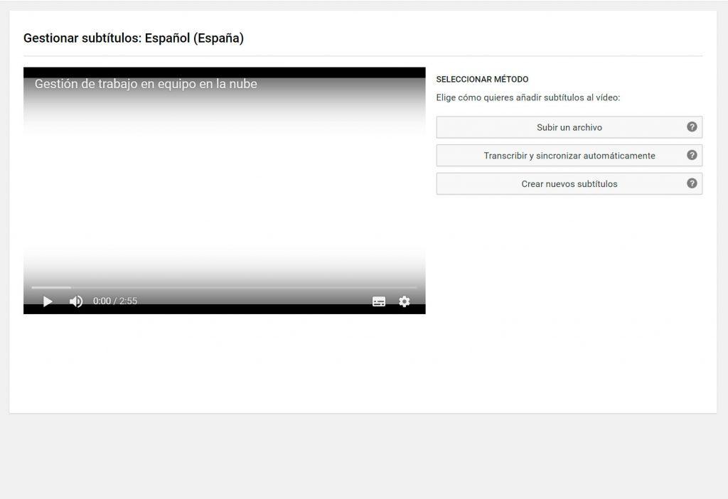 Transcribir y sincronizar los vídeos automáticamente o crear nuevos subtitulos