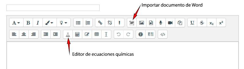 Barra de herramientas del editor Atto con los dos nuevos botones incorporados.