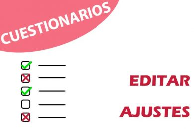 Cuestionarios: editar ajustes