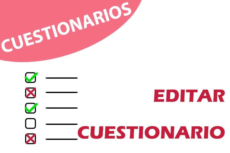 Cuestionarios: editar cuestionario