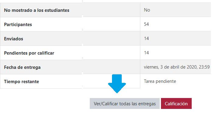 Ver/Calificar tareas