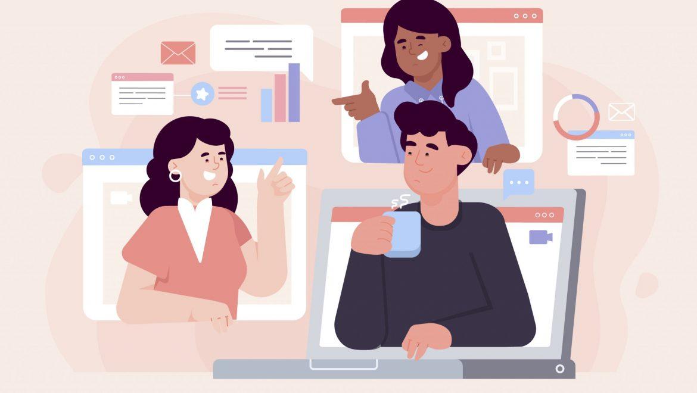 Trabajo en equipo en línea con los canales de Teams