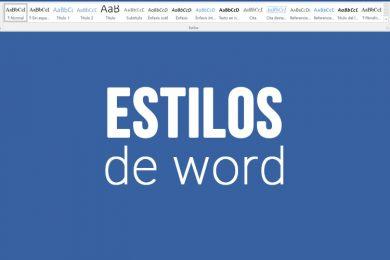 Uso de estilos en Word