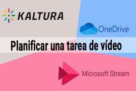 Planificar una tarea de vídeo en UBUVirtual